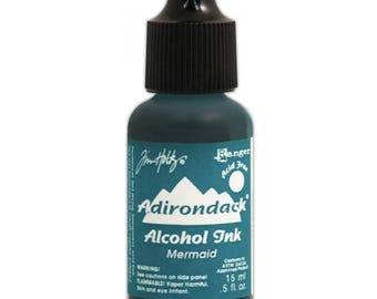 Tim Holtz Alcohol ink, Mermaid