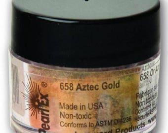 Pearl Ex powdered pigment, Aztec Gold, 3 gram jar