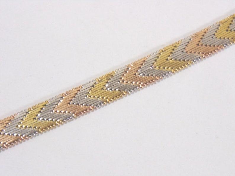 Women/'s Vintage Estate Italian Sterling Silver Art Deco Bracelet 22.7g