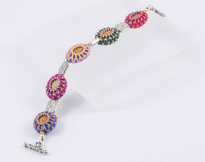 Multi Colored Western Beaded Bracelet