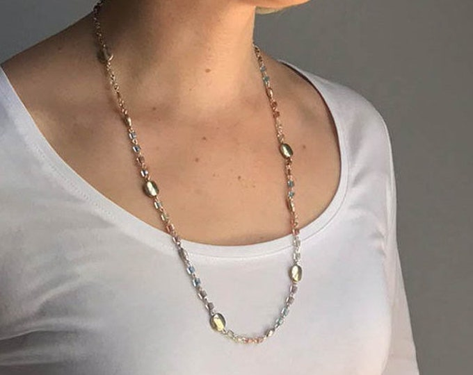 Sundance-Style Long Summer Chain Necklace