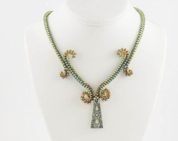 Egyptian Green Goddess Necklace