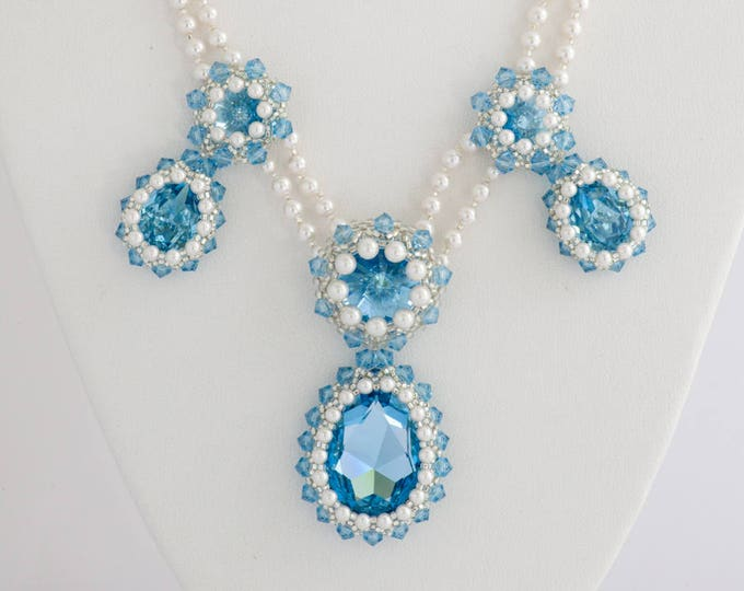 Something Blue Necklace Crystal Statement Set