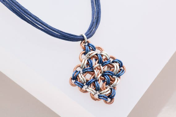 Navy Chainmaille Star Pendant