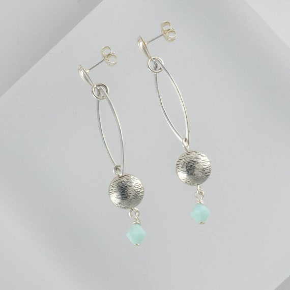 Soft Sea Foam Mint Green Earrings