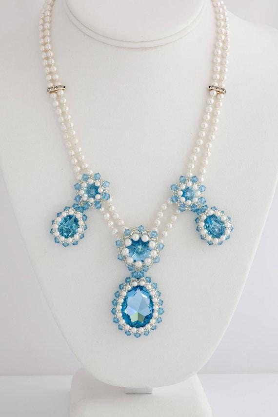 Something Blue Necklace Crystal Statement Set