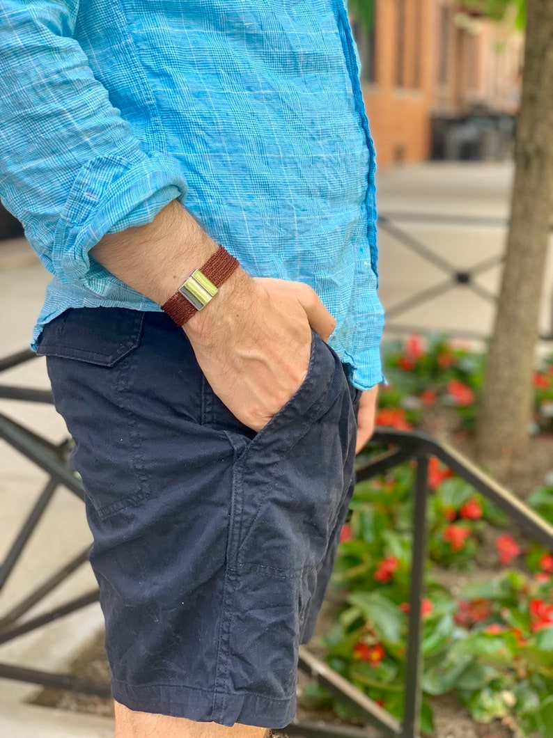 Mens Mesh Bracelet Mens Metal Bracelet with Magnetic Clasp image 0