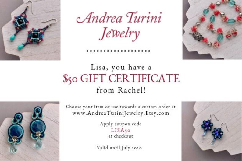 Andrea Turini Jewelry Printable Gift Certificate Last Minute image 0