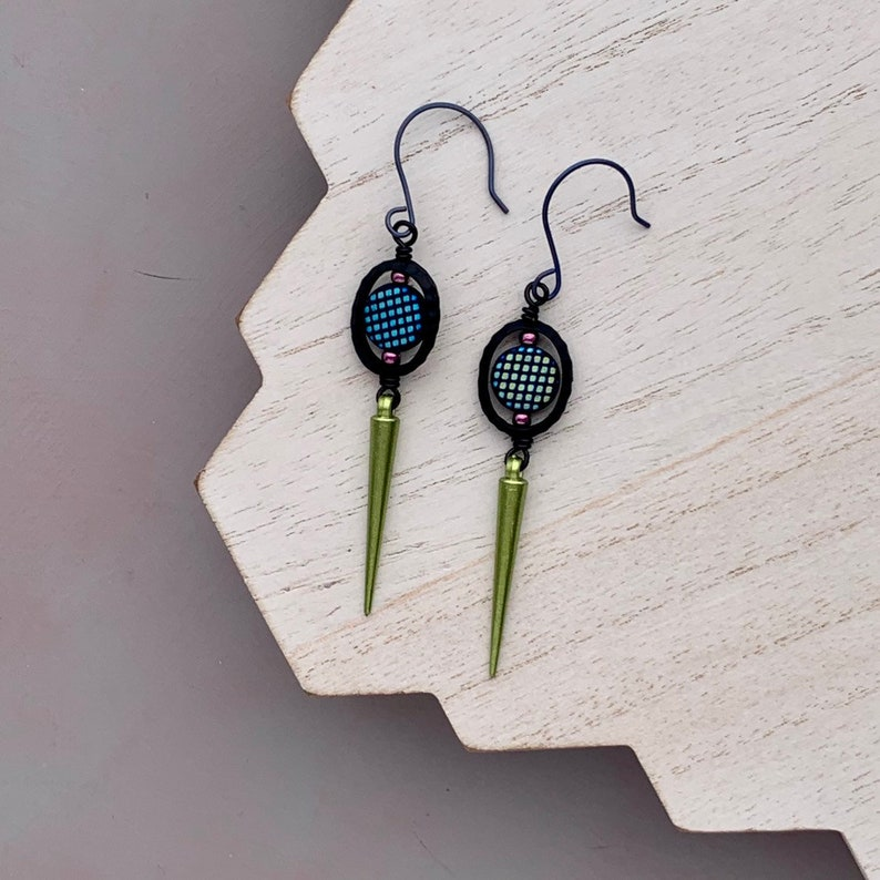 Long Dagger Statement Earrings Acrylic Earrings Festival image 0