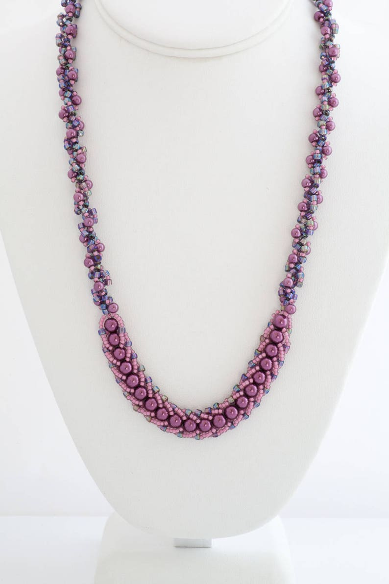 CLEARANCE ON SALE Pearl Beadwoven Two-Tone Twisted Rope image 0