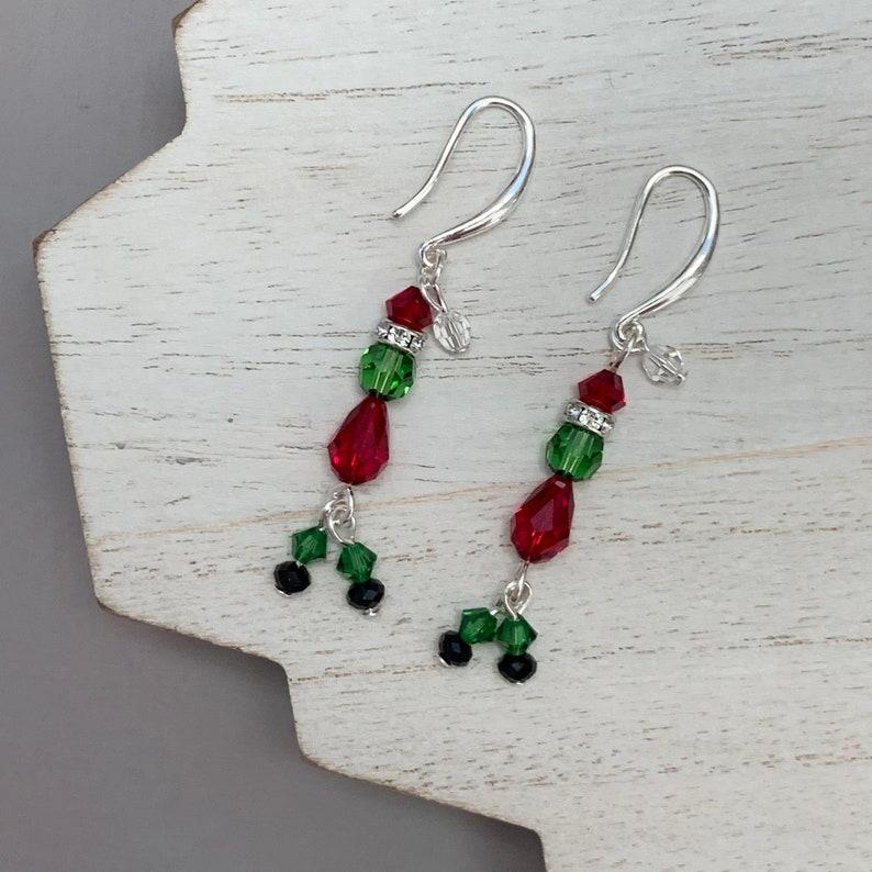 Grinch Earrings Christmas Hum-Bug Earrings Holiday Jewelry image 0