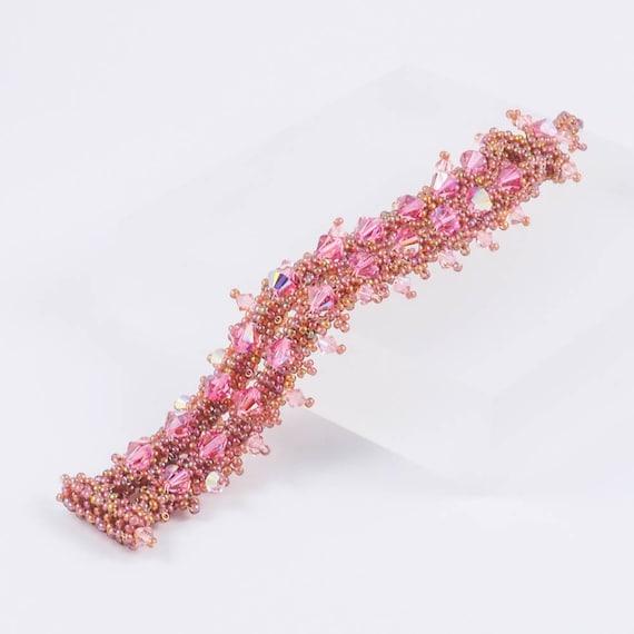 Pink Spike Crystal Bracelet