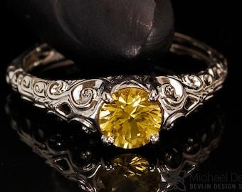 yellow sapphire ring,
