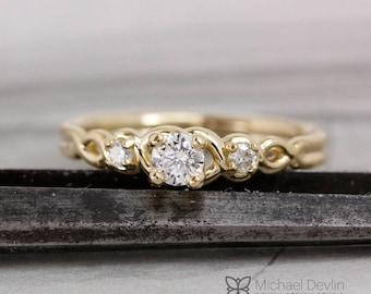 twist style diamond ring