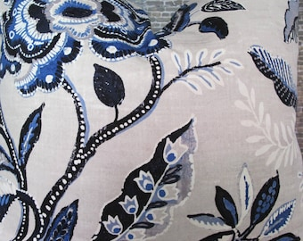 Designer Pillow Cover - Bohemian Floral KOLJ Indigo