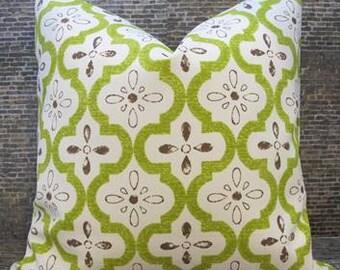 Housse de coussin créateur de vente - jardin marocain - 12 x 16, 12 x 18, 16 x 16, 18 x 18, 20 x 20 - intérieur/extérieur