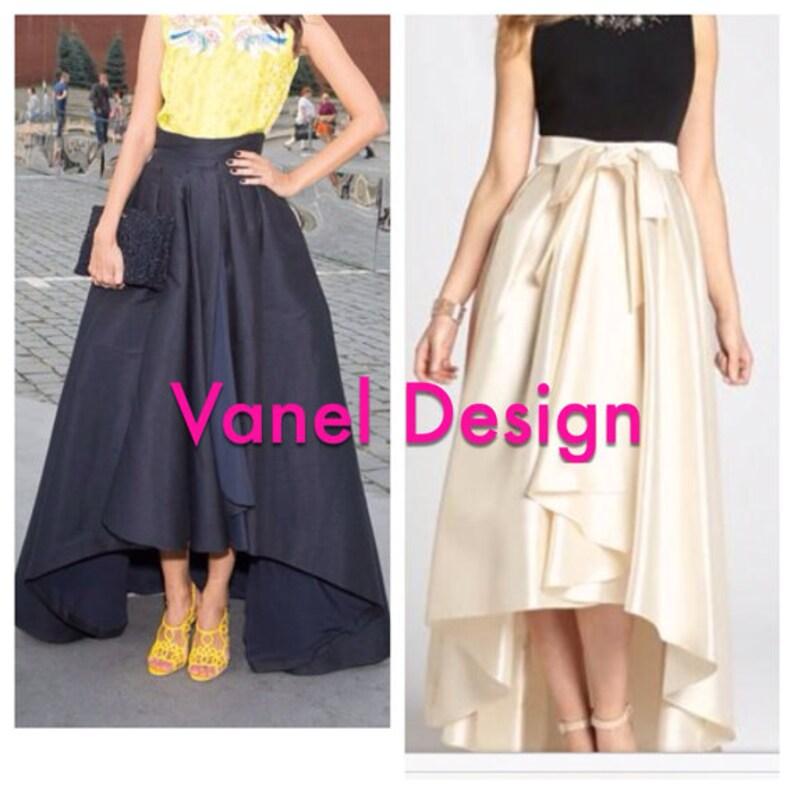 ff29ae2b979 Bridesmaid Dress Maxi Skirt with pockets Romantic Black Long