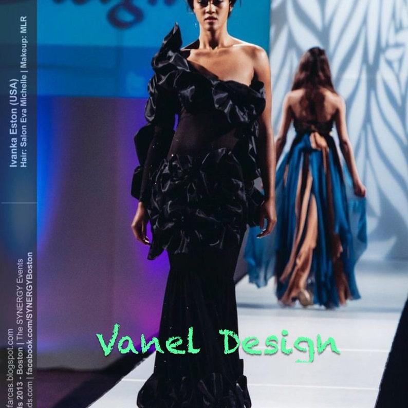 d27f1ddd1e Black Mermaid Dress Bridal Gown Elegant Formal Floor Length
