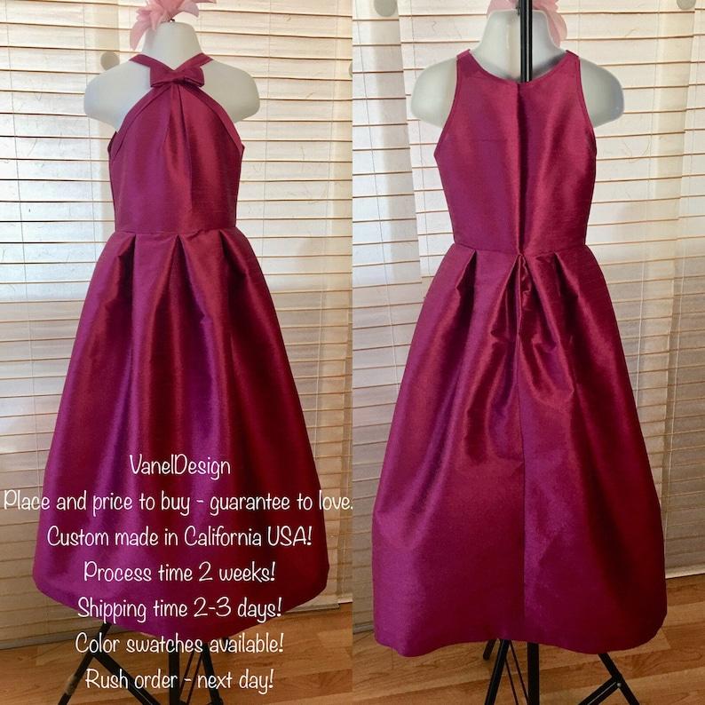 7222f91ba45 Flower Girl Bridesmaid Dress Wedding Gown Long Bridal