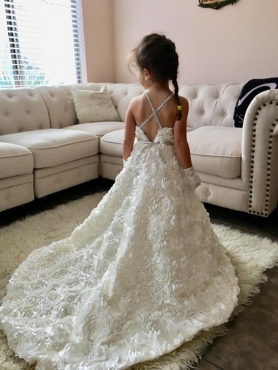 1d1b8d395e Flower Girl Bridesmaid Dress Wedding Gown Bridal Gown