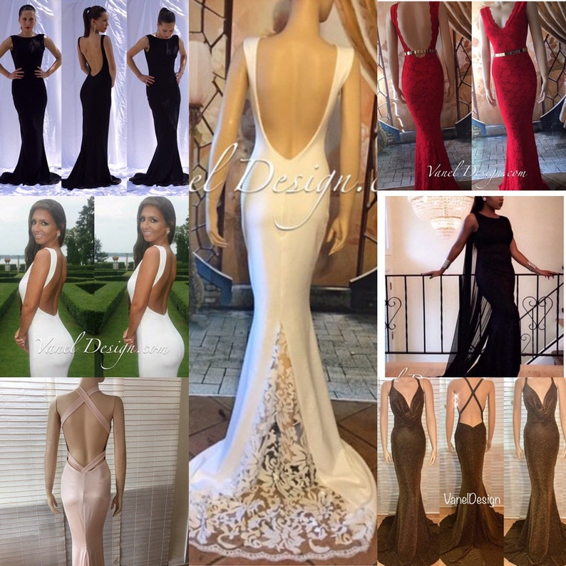 Bridesmaid Dress, Long Mermaid Dress, Flower Girl, Blush Prom, Gold Prom  Gown, Open Back, Plus Size Gown, Long, Lace, Sequin, Plus Size Gown