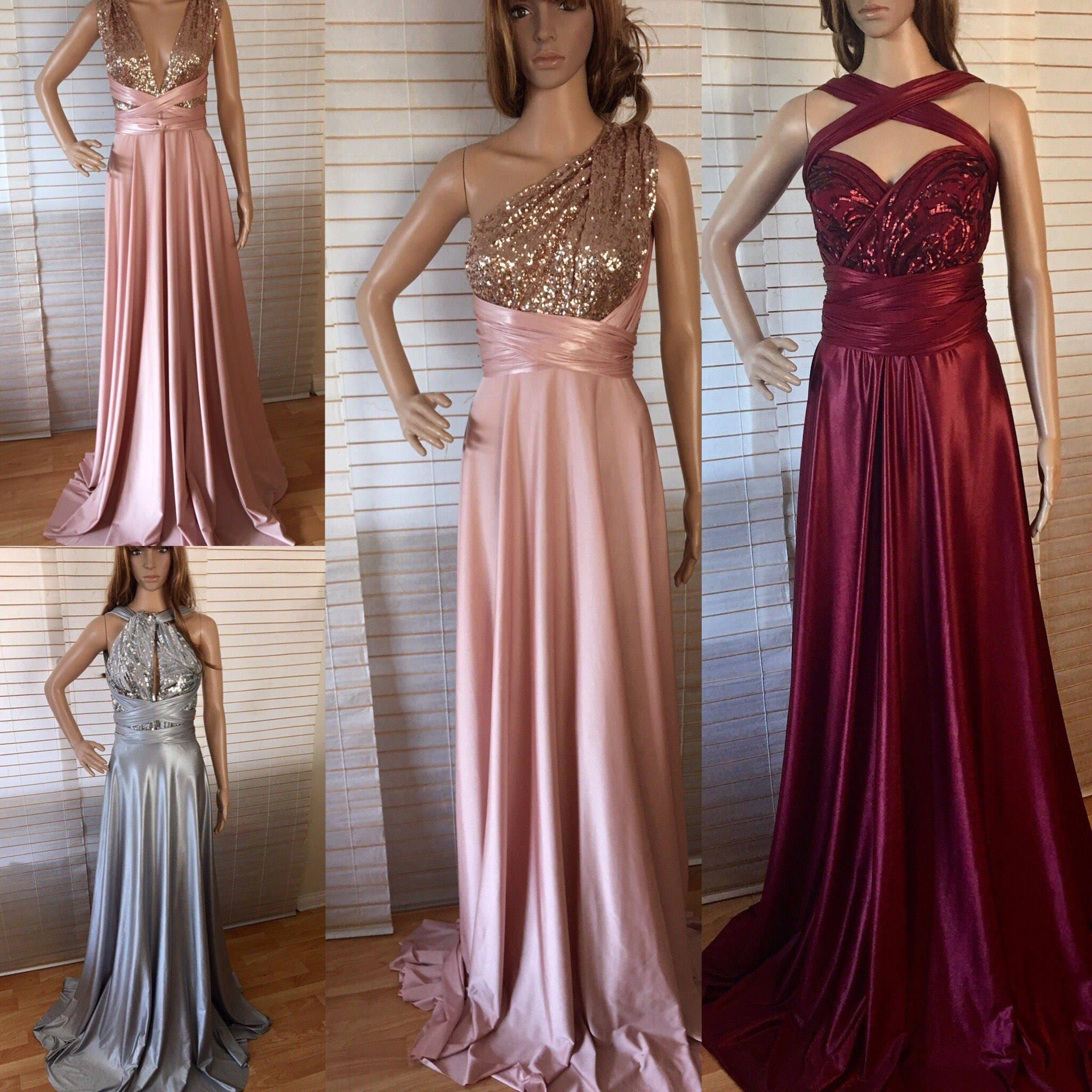 2ce2fa6dd2f Bridesmaid Dress Burgundy Blush Convertible Infinity Custom