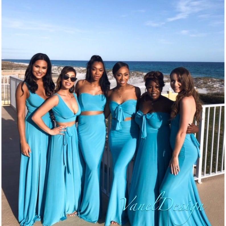 Bridesmaid Dresses Long Side Slit V-neck A-Line Dress Candy   Etsy