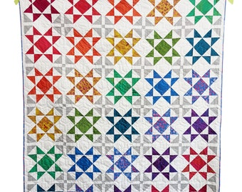 Star Quilt Pattern PDF *Fat Quarter Friendly* Luster by Slightly Biased Quilts