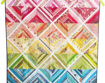 Strip Quilt Pattern PDF *Scrap Friendly* Biased by Slightly Biased Quilts