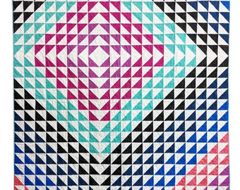 Triangle Quilt Pattern PDF *Fat Quarter Friendly* Wavelet by Slightly Biased Quilts