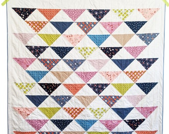 Triangle Quilt Pattern PDF *Fat Quarter Friendly* Drift by Slightly Biased Quilts