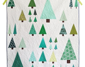 Tree Quilt Pattern PDF *Scrap Friendly* Arboreal by Slightly Biased Quilts