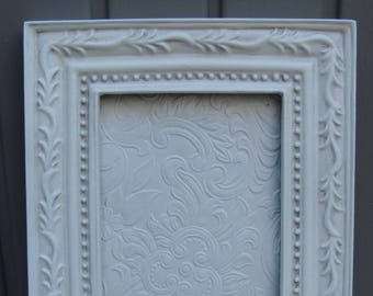 4 x 6 White Picture Frame, White Wood Frame with Glass and Easel Back, Nursery Room Frame, Wedding Frame, Cottage Chic, Shabby Chic Decor