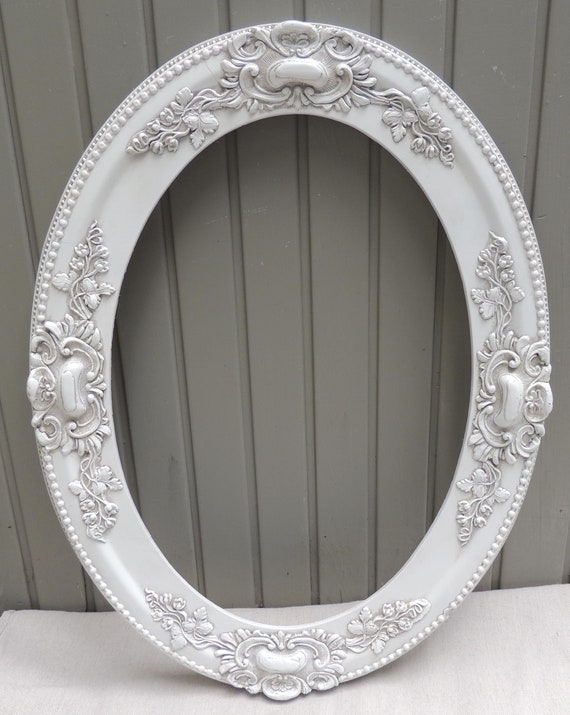 antique 14x20 white oval picture frame 14 x 20 white oval etsy. Black Bedroom Furniture Sets. Home Design Ideas