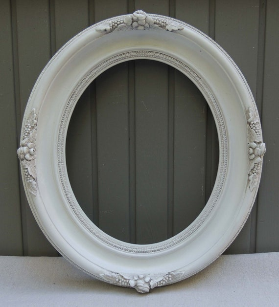 Antique 10x12 Oval White Frame Vintage 10 X 12 Oval Wood Etsy