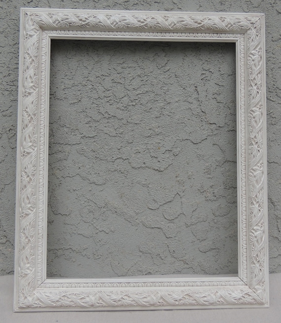 Ornate White Frame Vintage 16 X 20 White Picture Frame Large Etsy