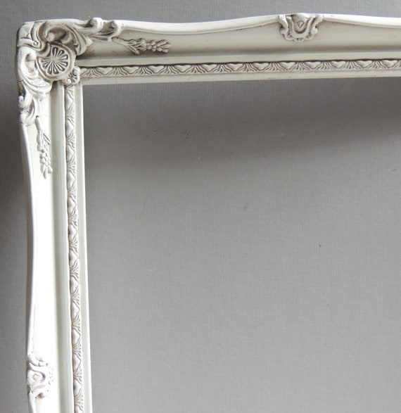 14 X 18 White Picture Frames Vintage Picture Frame White Etsy