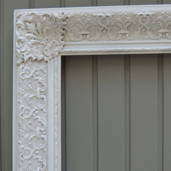 16 x 20 White Picture Frames, 16X20 Vintage Ornate Picture Frame ...