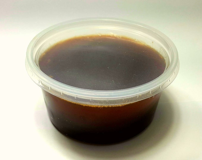 Natural Really Raw CHESTNUT DARKER Honey,  Naturally Granulated Pure Honey ( food grade deli containers for safe shipping )