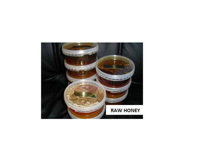 5 Lb ( 2.20 Kg ) Natural Really Raw Honey,  Naturally Granulated Mountain Wildflower Pure Honey 5 pounds