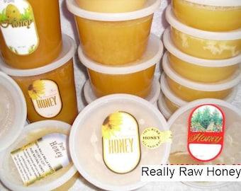 Organic Really Raw DARKER Honey,  Naturally Granulated Mountain Wildflower Pure Honey