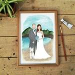 Custom Couples Portrait, Bespoke Art, Wedding Present, Anniversary Gift,