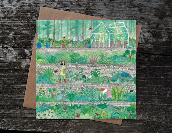 Garden Greetings Card, Gardener Gifts, Birthday Card, Garden Lover