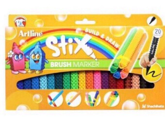 Artline Stix brush Markers 20 Assorted Color Set