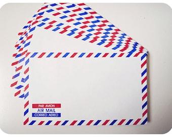 10 Air mail envelopes
