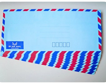 10 Blue Air mail envelopes
