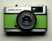 Olympus Trip 35 - refurbished 1970s film camera, green