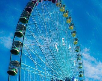 State Fair Texas Carnival Ferris Wheel Fine Art Photography Kids Room Baby Nursery Decor