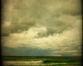 Beach Photography Seascape Ocean Storm Waves Nature Fine Art Print