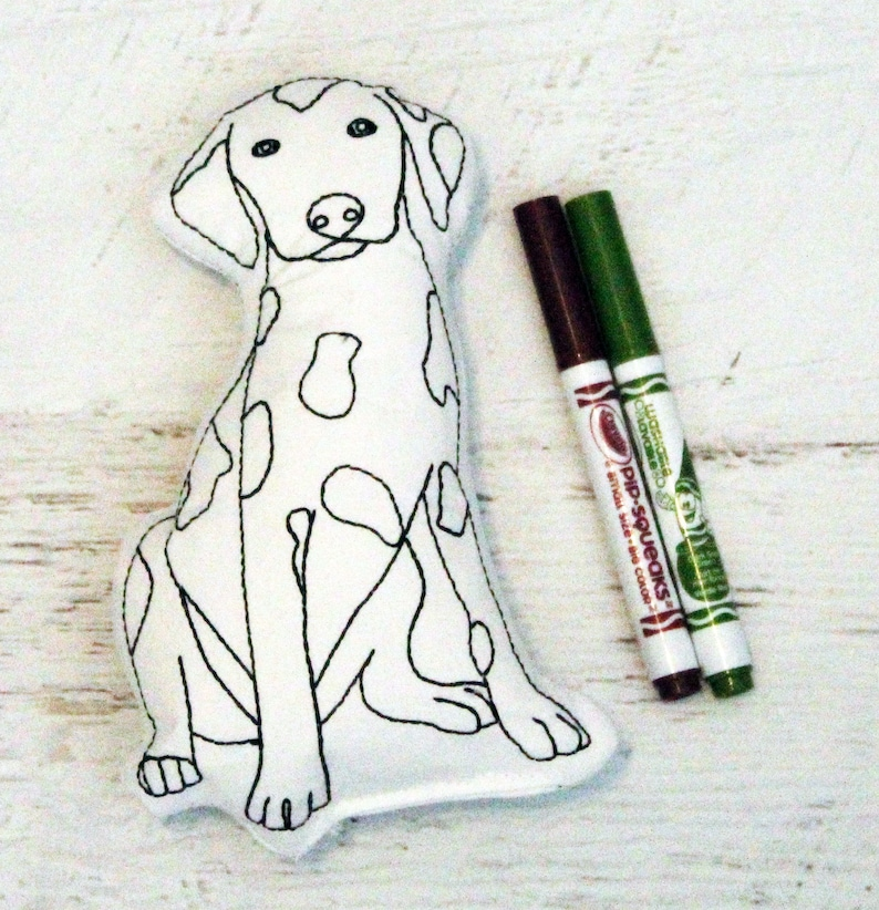 Dalmatian Coloring Activitiy-Color Your Own Doll-Dog Birthday image 0